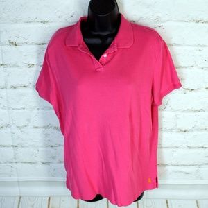 🎁 J. Peterman • Solid Pink Button-Down Polo Shirt